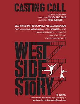 West Side Story le casting est ouvert
